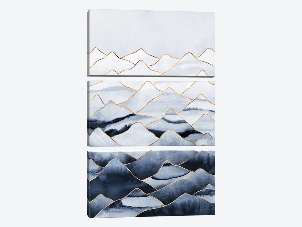 Mountains I by Elisabeth Fredriksson 3-piece Art Print