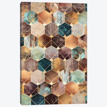Natural Hexagons And Diamonds Canvas Print #ELF275} by Elisabeth Fredriksson Canvas Art Print