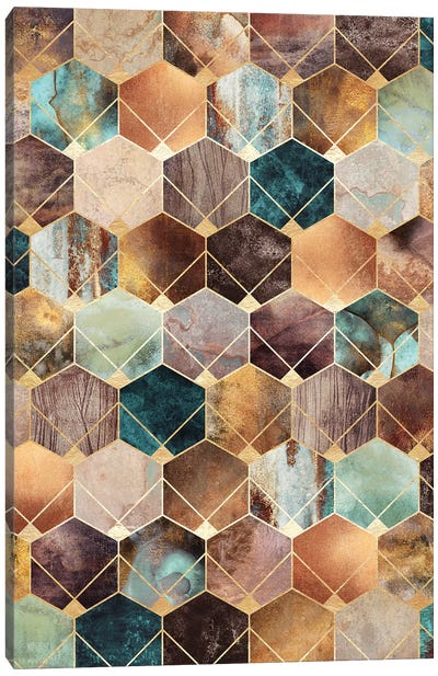Natural Hexagons And Diamonds Canvas Art Print