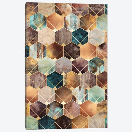 Natural Hexagons And Diamonds Canvas Print #ELF275} by Elisabeth Fredriksson Canvas Art Print