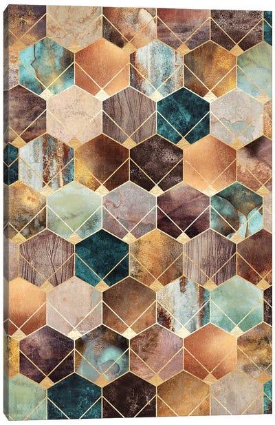 Natural Hexagons And Diamonds Canvas Art Print