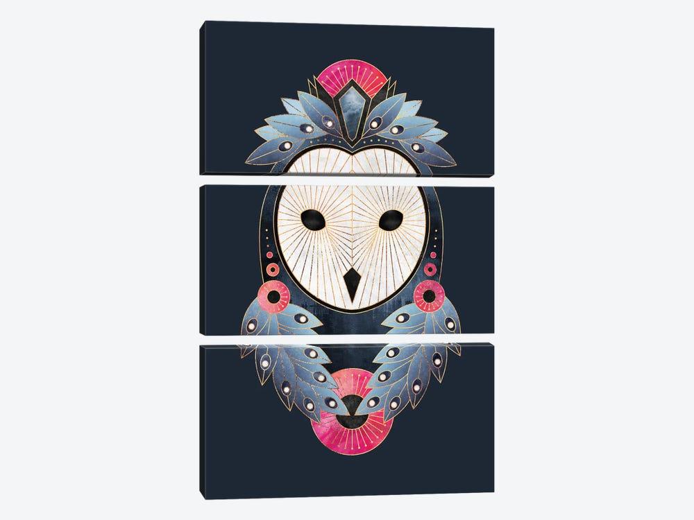 Owl I by Elisabeth Fredriksson 3-piece Canvas Print