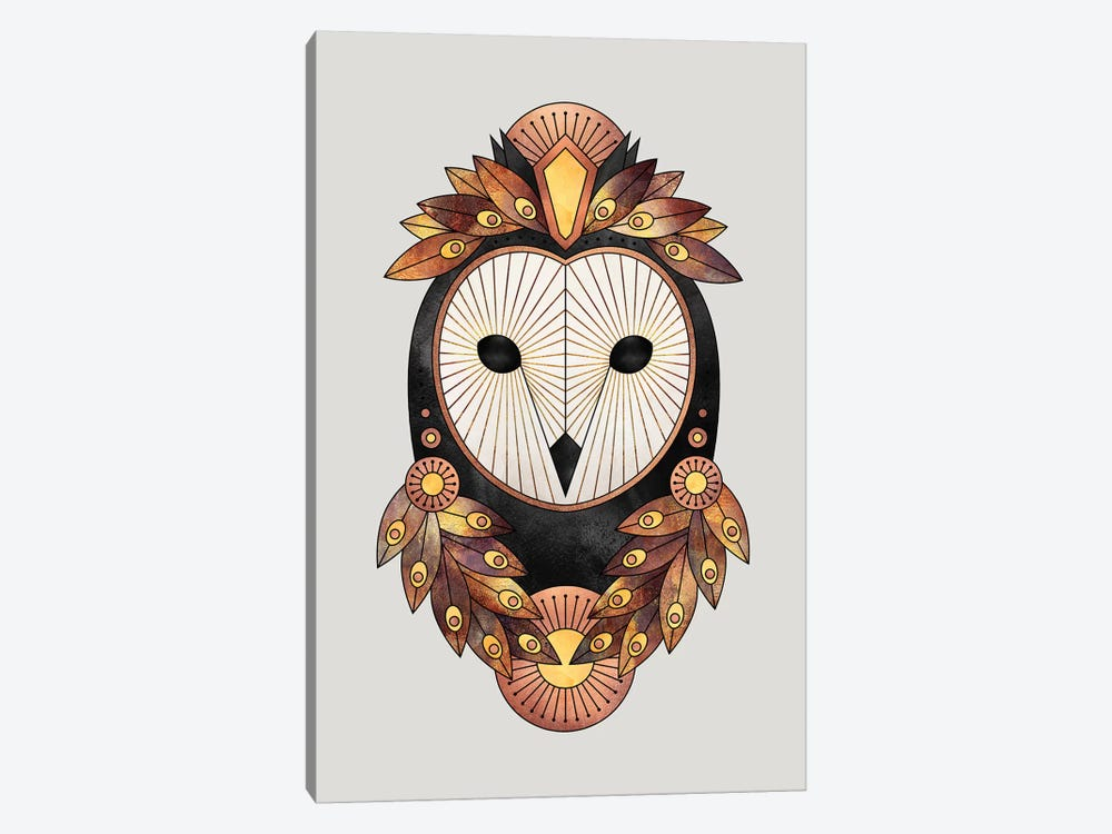 Owl II by Elisabeth Fredriksson 1-piece Canvas Wall Art