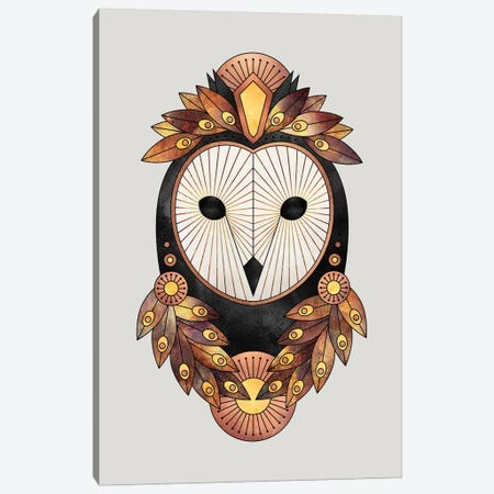Owl II 3-Piece Canvas #ELF277} by Elisabeth Fredriksson Canvas Art Print