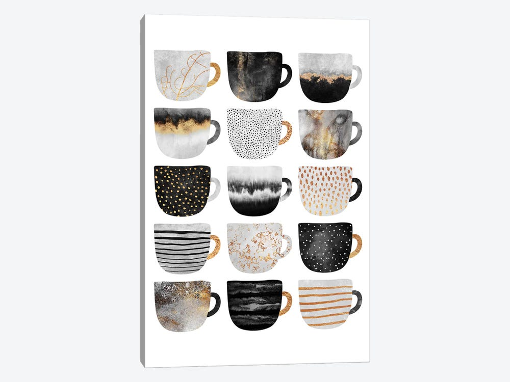 Pretty Coffee Cups III by Elisabeth Fredriksson 1-piece Art Print