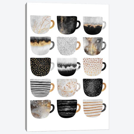 Pretty Coffee Cups III Canvas Print #ELF278} by Elisabeth Fredriksson Canvas Artwork