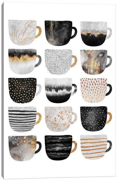 Pretty Coffee Cups III Canvas Art Print
