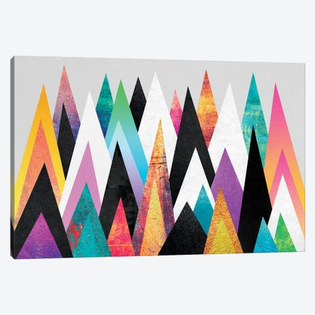 Colorful Peaks Canvas Print #ELF27} by Elisabeth Fredriksson Canvas Wall Art