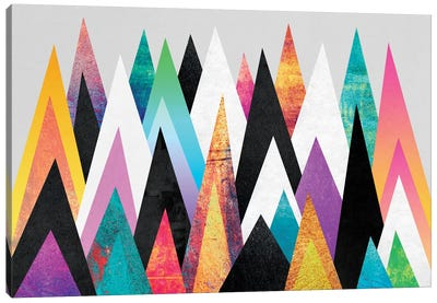 Colorful Peaks Canvas Art Print