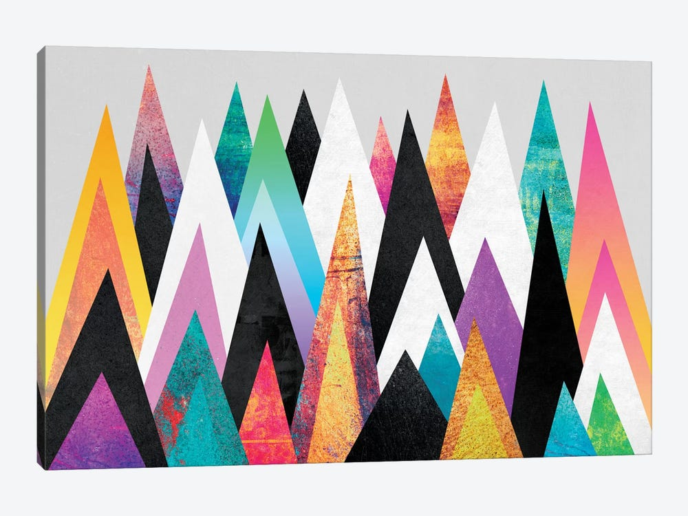 Colorful Peaks by Elisabeth Fredriksson 1-piece Canvas Art