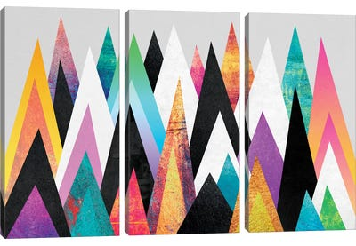 Colorful Peaks by Elisabeth Fredriksson Canvas Wall Art