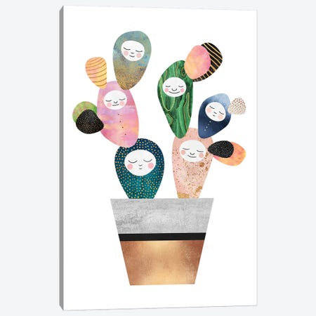 Sleepy Cactus Canvas Print #ELF280} by Elisabeth Fredriksson Art Print