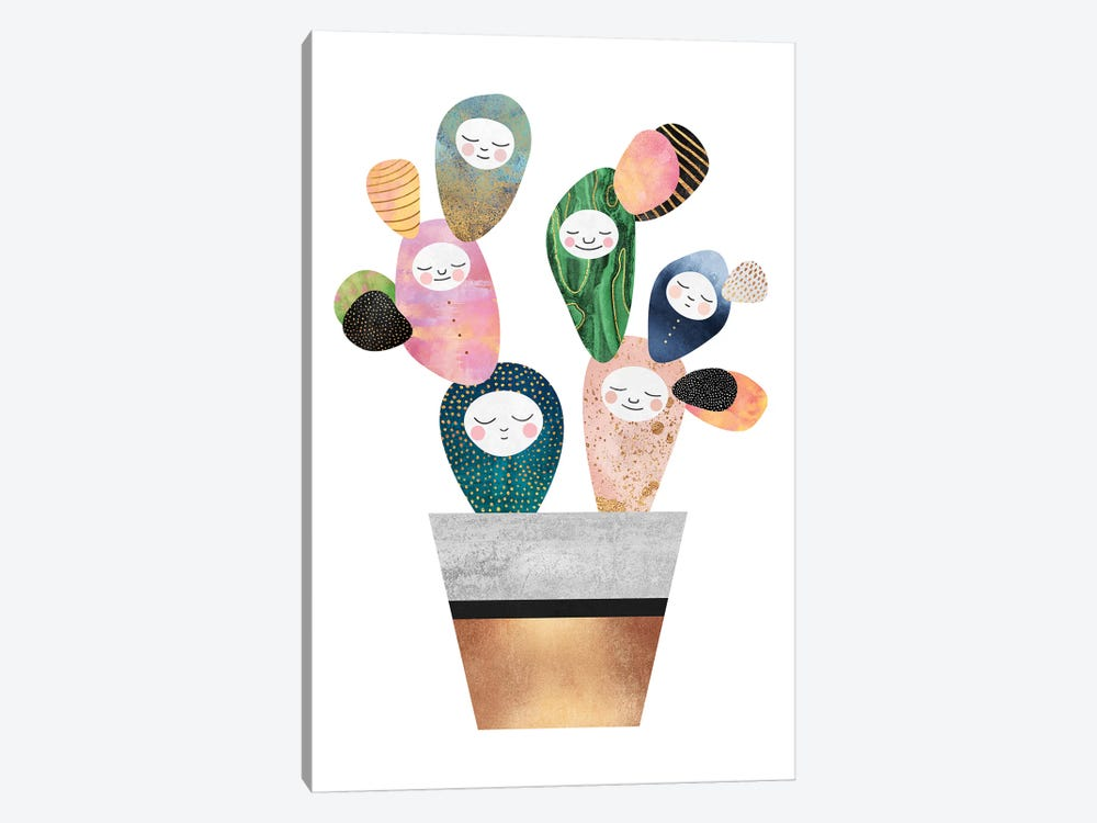 Sleepy Cactus by Elisabeth Fredriksson 1-piece Canvas Wall Art
