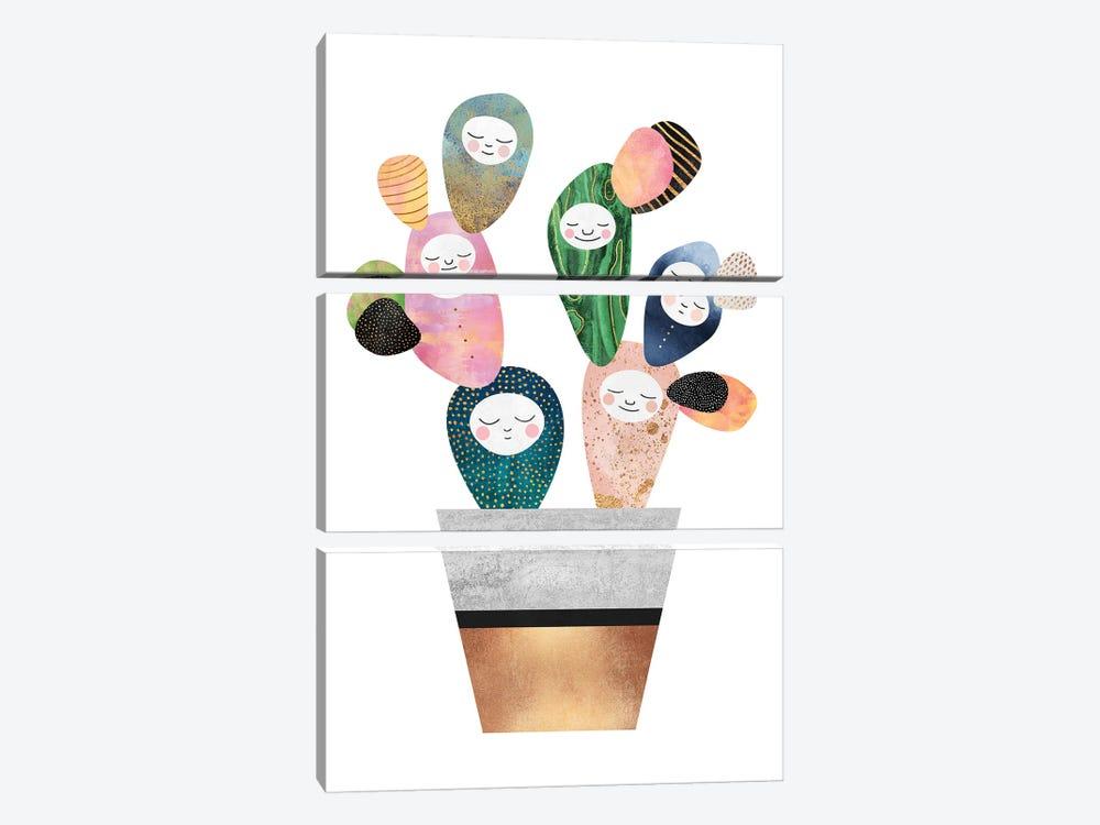 Sleepy Cactus by Elisabeth Fredriksson 3-piece Canvas Artwork