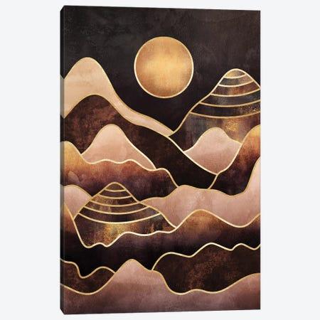 Sunkissed Mountains Canvas Print #ELF281} by Elisabeth Fredriksson Art Print