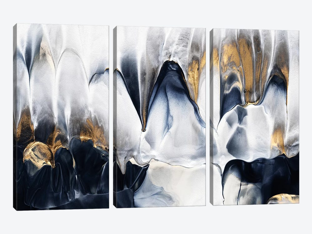 Abstract Flow II by Elisabeth Fredriksson 3-piece Canvas Print