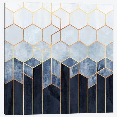 Soft Blue Hexagons Canvas Print #ELF288} by Elisabeth Fredriksson Canvas Art Print