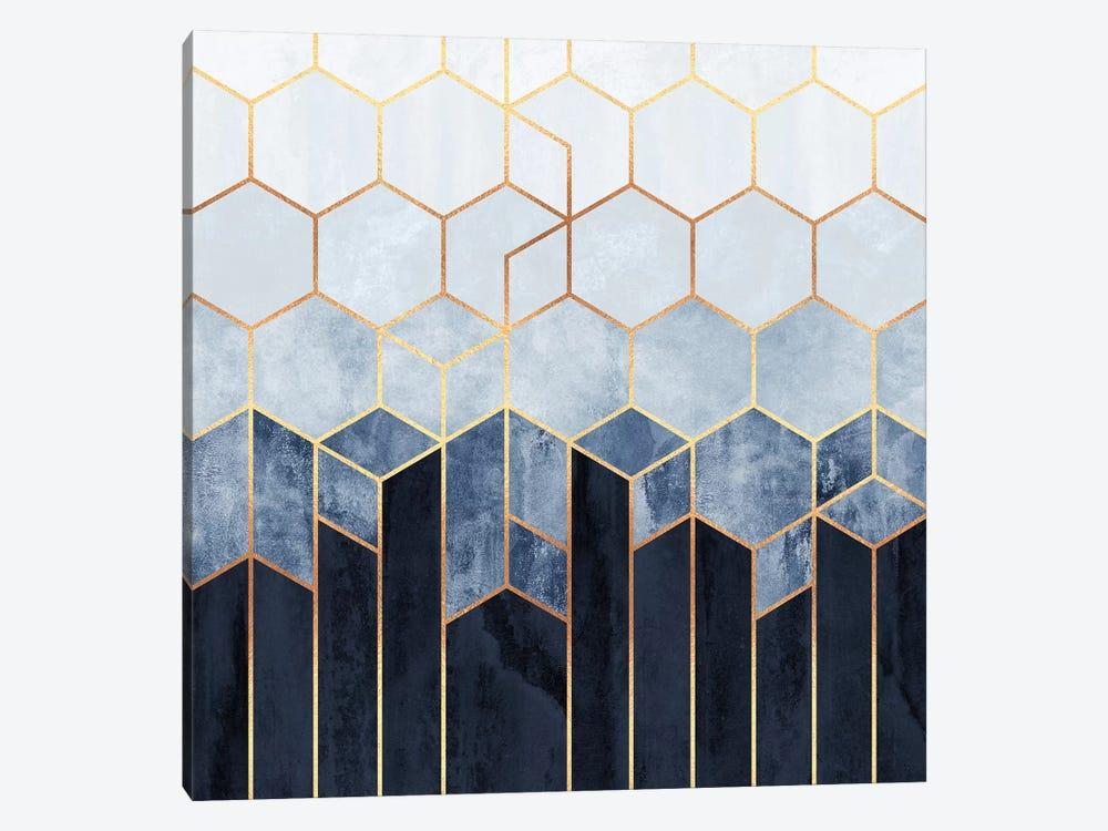 Soft Blue Hexagons by Elisabeth Fredriksson 1-piece Canvas Artwork