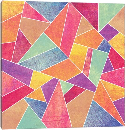 Colorful Stone Canvas Art Print