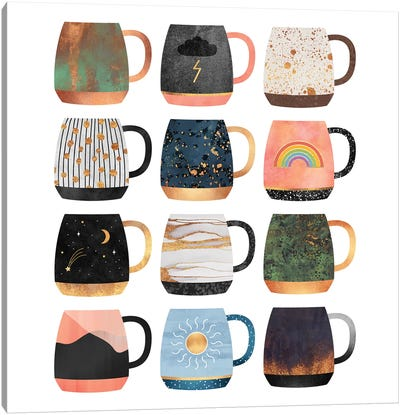 Coffee Cup Collection II Canvas Art Print