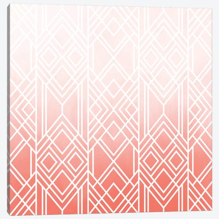 Art Deco Fading Peach Canvas Print #ELF295} by Elisabeth Fredriksson Canvas Art Print