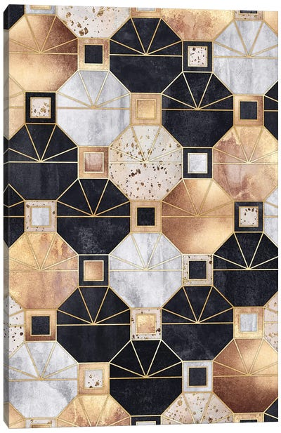 Art Deco Octagons Canvas Art Print