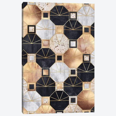Art Deco Octagons Canvas Print #ELF296} by Elisabeth Fredriksson Canvas Print