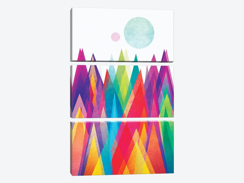 Colorland by Elisabeth Fredriksson 3-piece Canvas Art