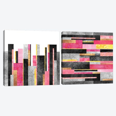 Big City Skyline Diptych Canvas Print Set #ELF2HSET001} by Elisabeth Fredriksson Canvas Print