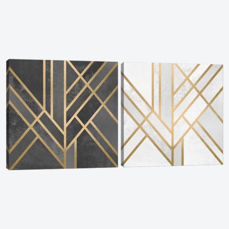 Art Deco Geometry Diptych Canvas Print Set #ELF2HSET006} by Elisabeth Fredriksson Canvas Wall Art