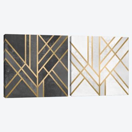 Art Deco Geometry Diptych Canvas Print Set #ELF2HSET006} by Elisabeth Fredriksson Canvas Wall Art