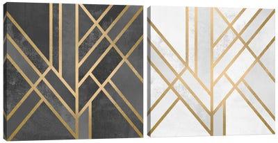 Art Deco Geometry Diptych Canvas Art Print