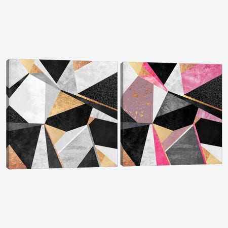Geometry Diptych Canvas Print Set #ELF2HSET008} by Elisabeth Fredriksson Canvas Art Print