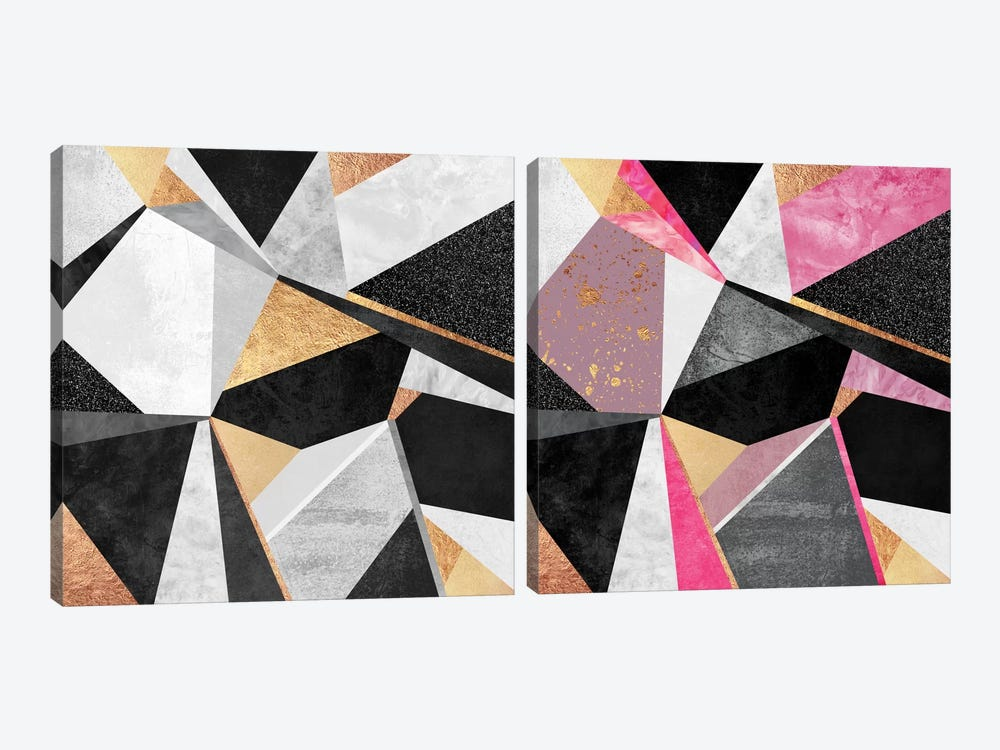 Geometry Diptych by Elisabeth Fredriksson 2-piece Canvas Print