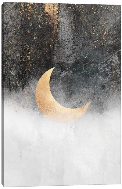 Crescent Moon Canvas Art Print