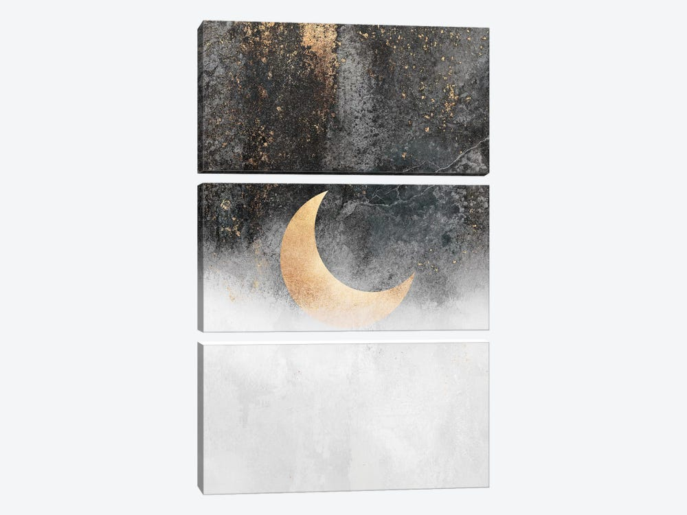 Crescent Moon by Elisabeth Fredriksson 3-piece Canvas Print