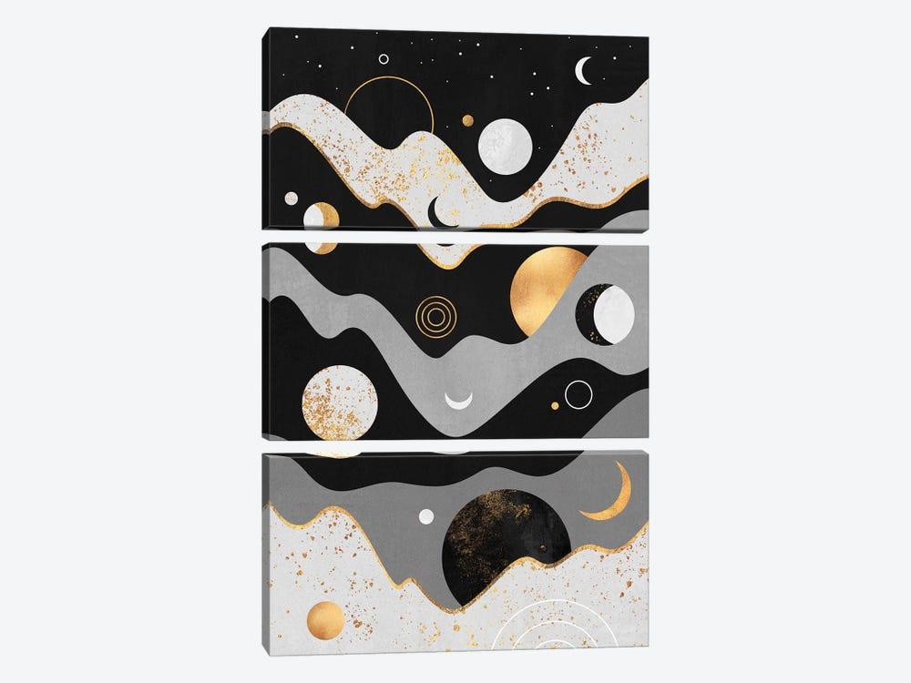 Lunar Landscape by Elisabeth Fredriksson 3-piece Canvas Art