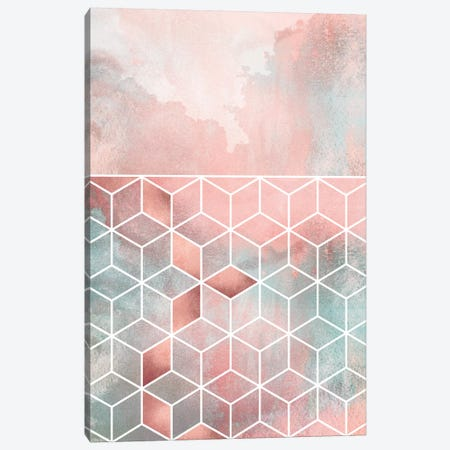 Rose Clouds And Cubes I Canvas Print #ELF310} by Elisabeth Fredriksson Canvas Art Print