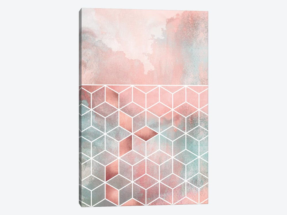 Rose Clouds And Cubes I by Elisabeth Fredriksson 1-piece Canvas Wall Art