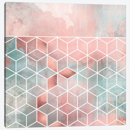 Rose Clouds And Cubes II Canvas Print #ELF311} by Elisabeth Fredriksson Canvas Art Print