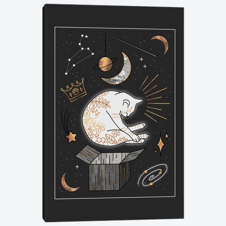 Ruler Of The Universe - Dreaming Cat Canvas Print #ELF312} by Elisabeth Fredriksson Canvas Art Print