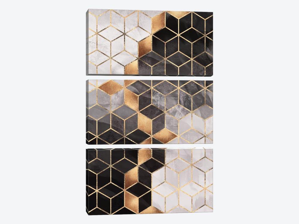 Smoky Cubes I by Elisabeth Fredriksson 3-piece Canvas Print