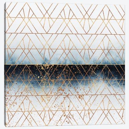 Winter Blue Geo Canvas Print #ELF317} by Elisabeth Fredriksson Canvas Art