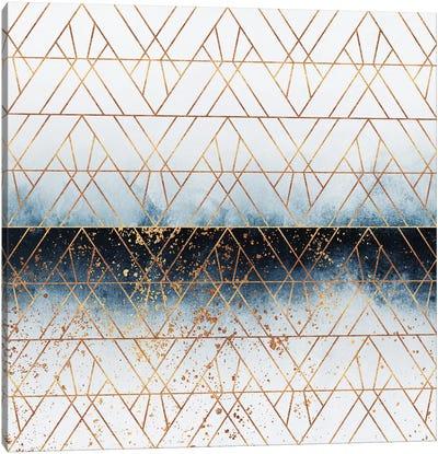 Winter Blue Geo Canvas Art Print