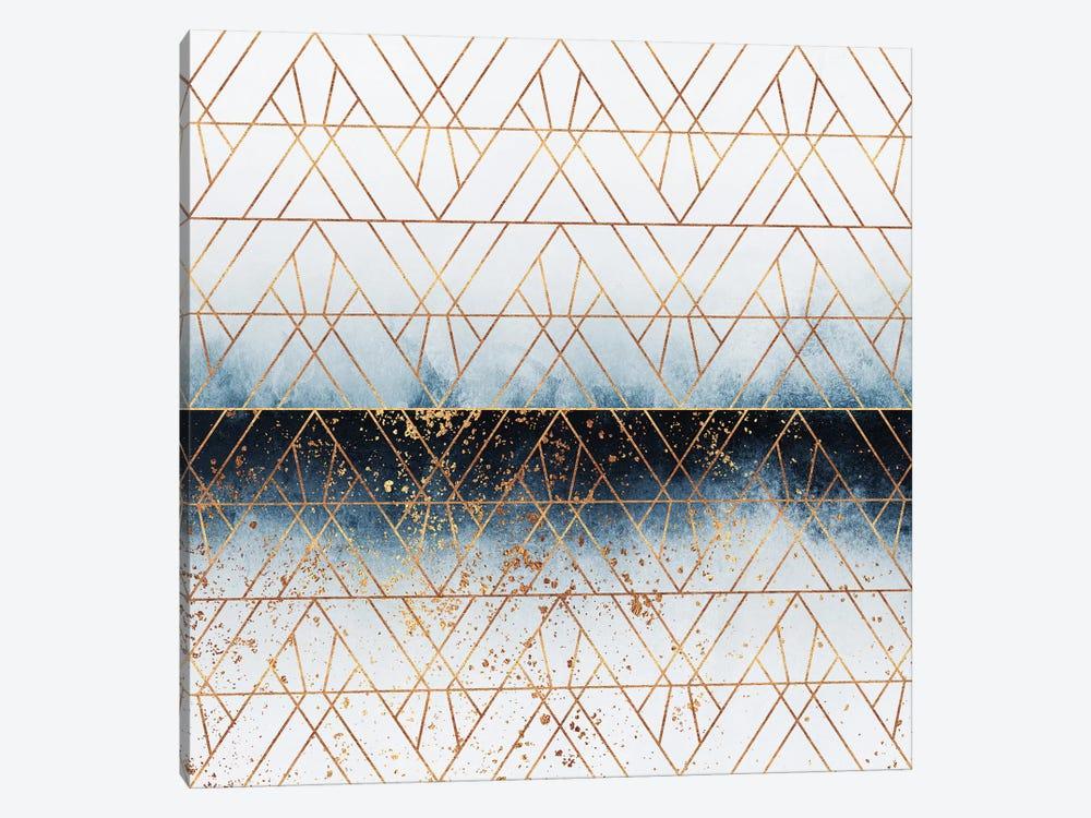 Winter Blue Geo by Elisabeth Fredriksson 1-piece Canvas Art Print