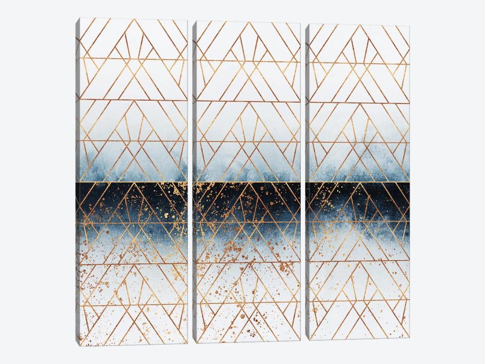 Winter Blue Geo by Elisabeth Fredriksson 3-piece Canvas Print