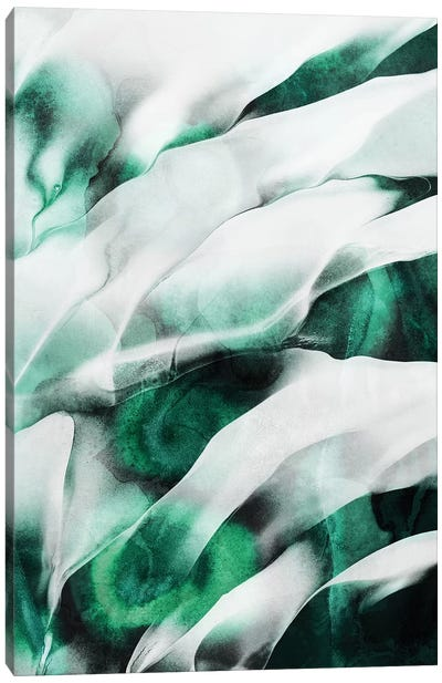 Emerald Flow Canvas Art Print