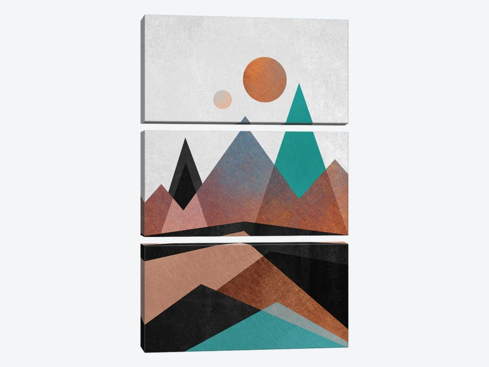 Copper Mountains by Elisabeth Fredriksson 3-piece Canvas Art