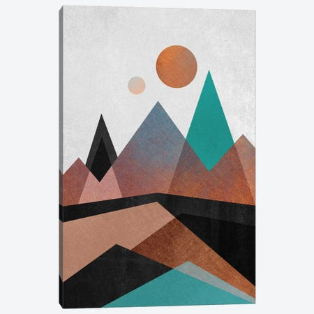Copper Mountains 3-Piece Canvas #ELF32} by Elisabeth Fredriksson Canvas Wall Art