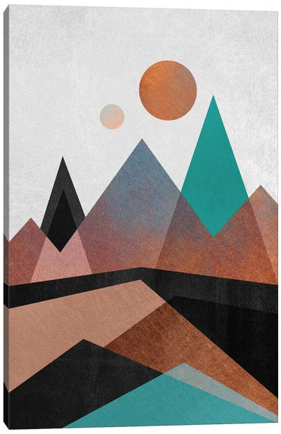 Copper Mountains Canvas Art Print